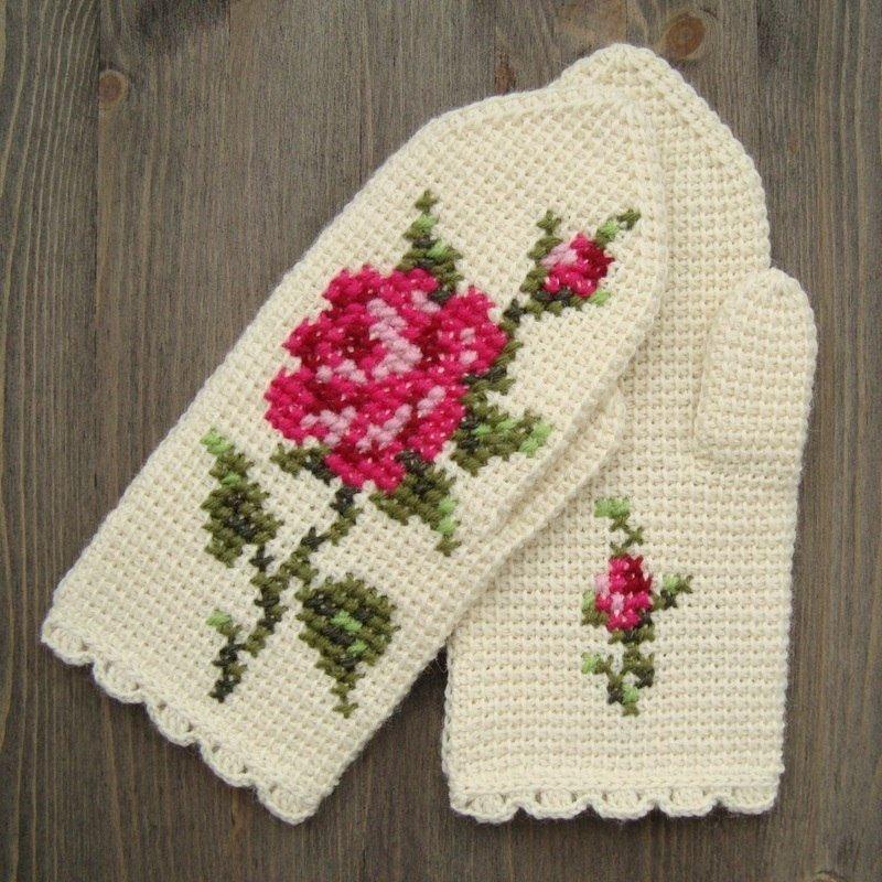 Вязание вышивание в вязании 215