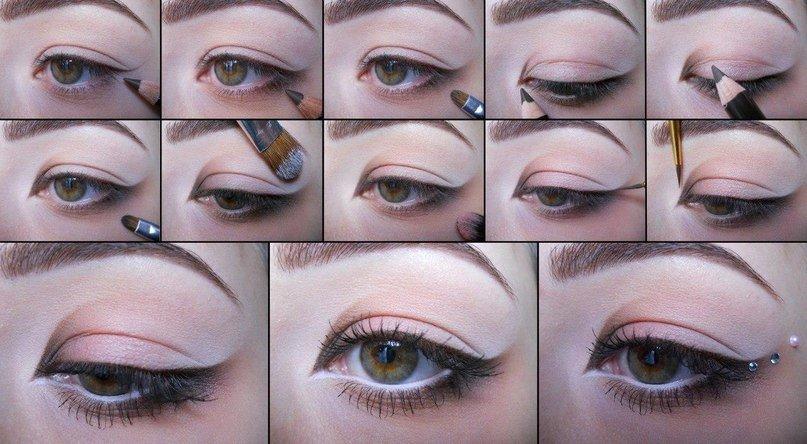 Свадебный макияж своими руками для карих глаз пошаговое фото 17