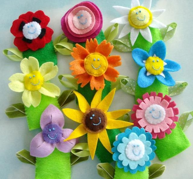 Цветы из мягкого фетра своими руками 79