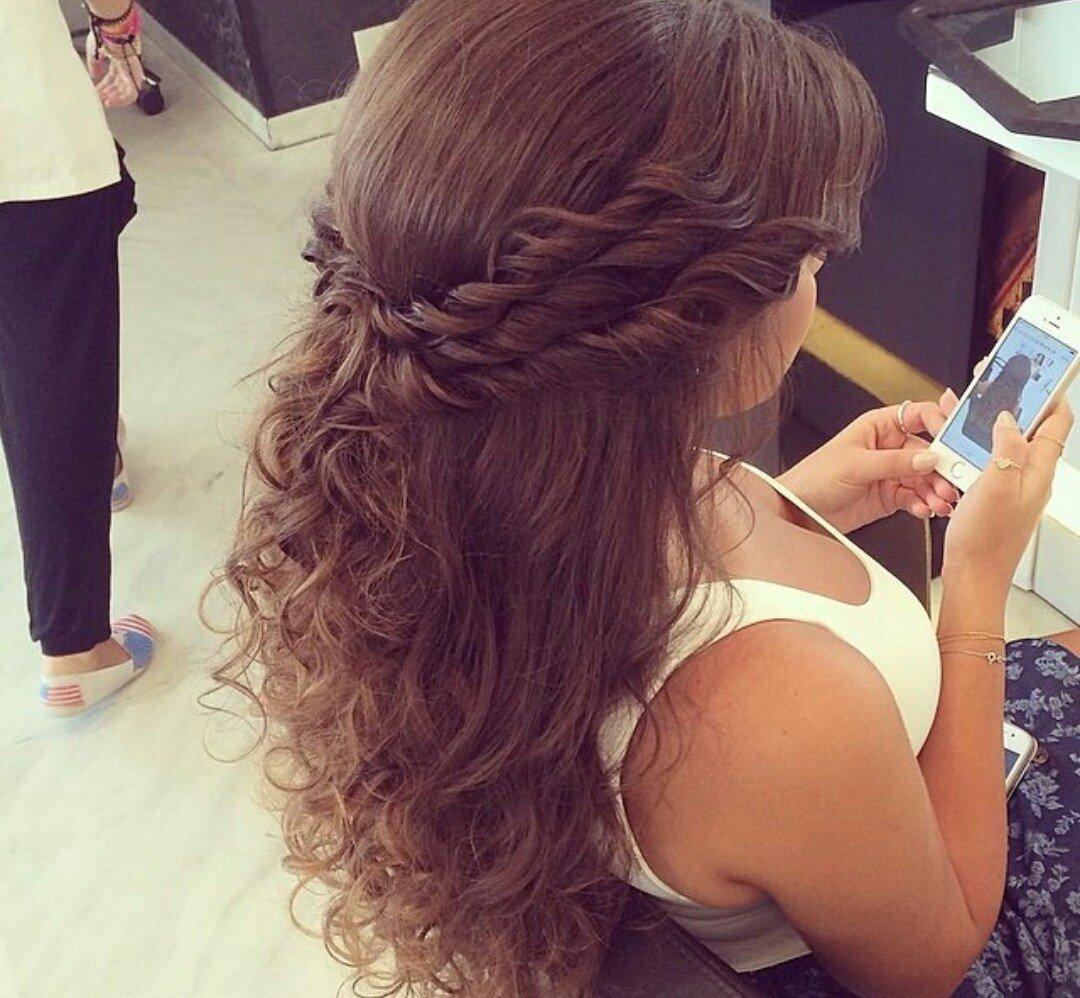Причёски на кудрявые длинные волосы своими руками