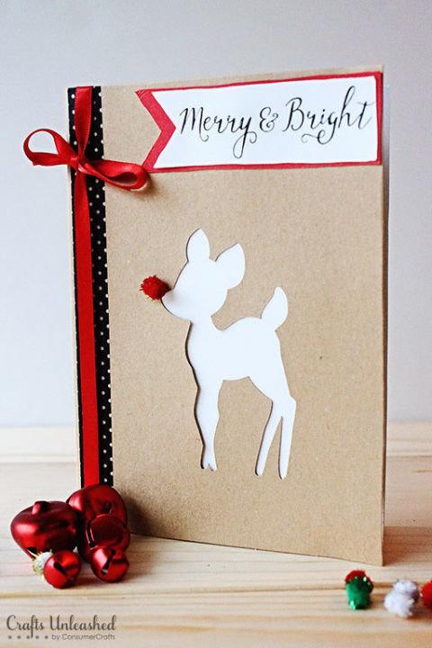 Красивые идеи для рождественской открытки своими руками из подручных материалов. Открытки ручной работы фото. - карточка от поль