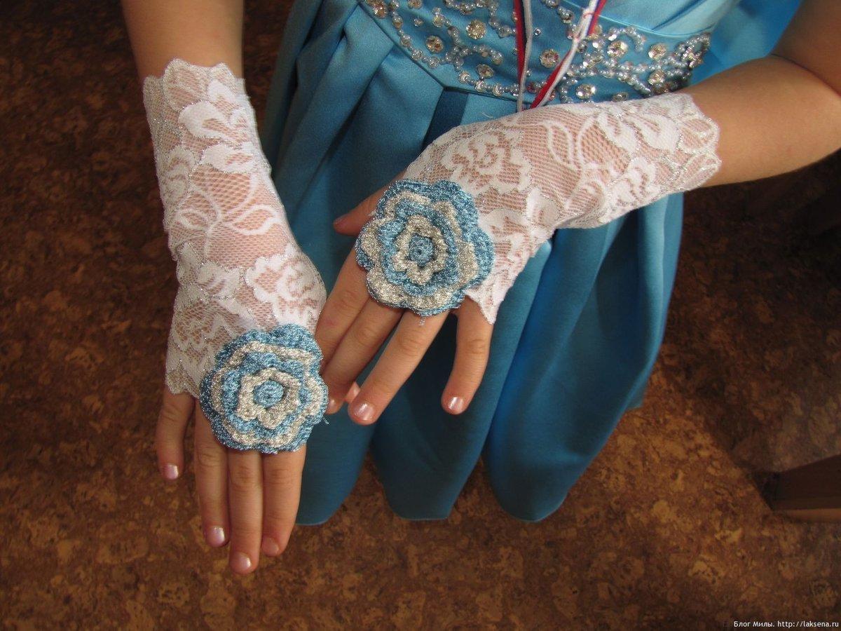 Кружевные перчатки своими руками фото