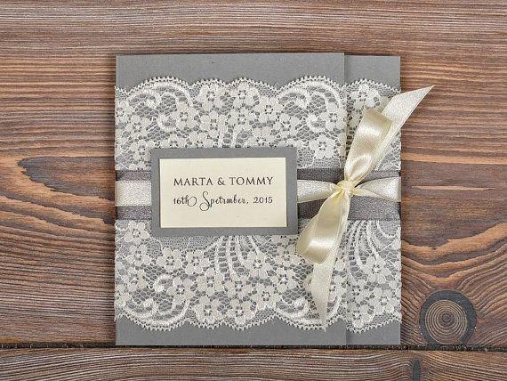 Приглашения на свадьбу с кружевами своими руками