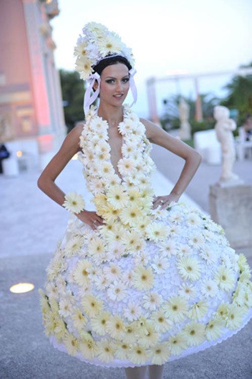 Свадебное платье ромашка