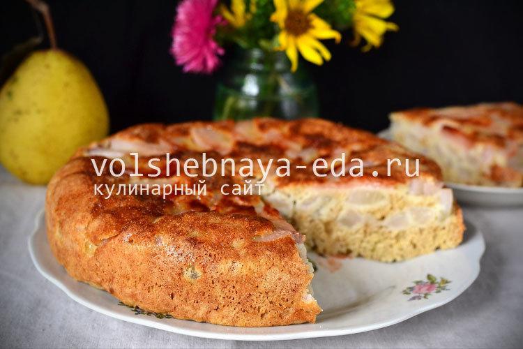 Пироги с грушами в мультиварке рецепты с