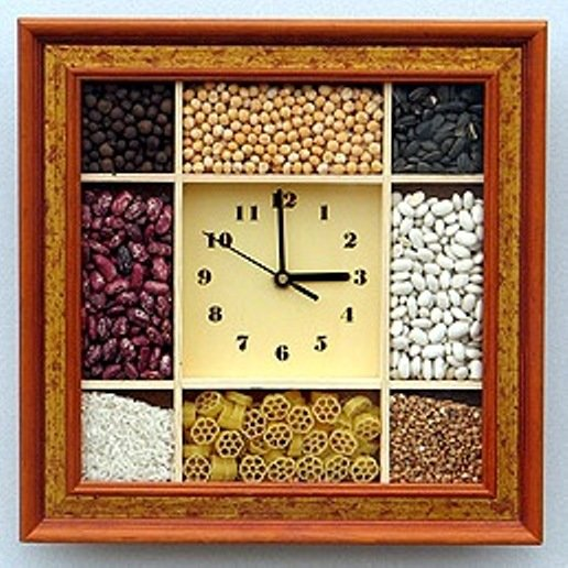 Часы для кухни своими руками фото