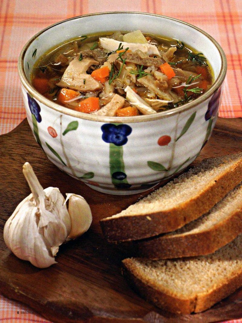 Грибной суп рецепт с курицей