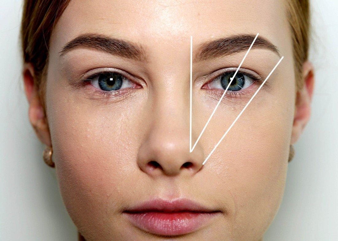 Как сделать так чтобы брови не были прямой формы 18