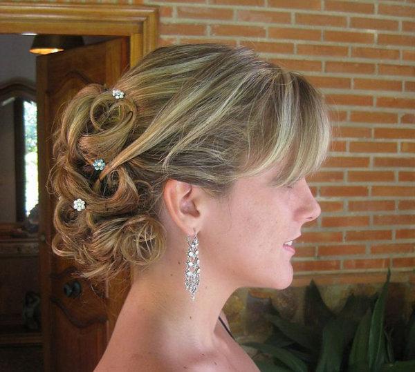 Прически для торжества на негустые волосы