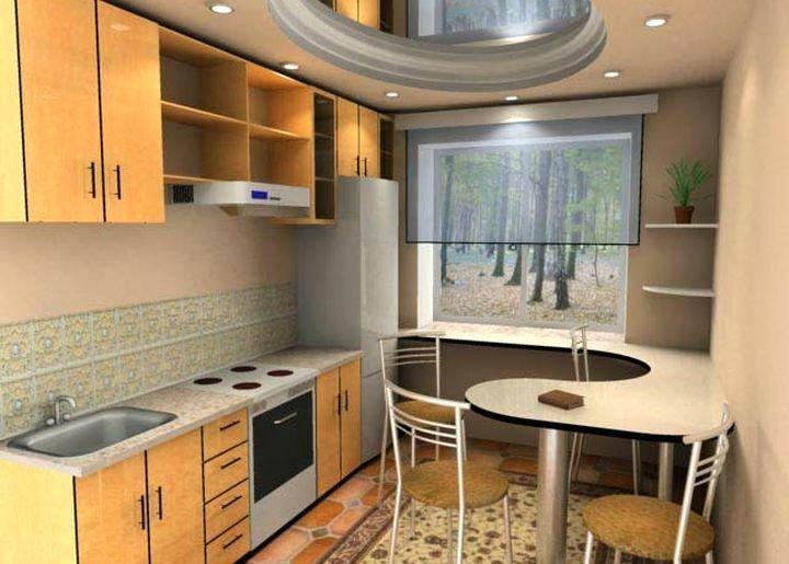 Как из большой кухни сделать еще и гостиную 268