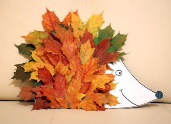 Ежик из сухих листьев 22