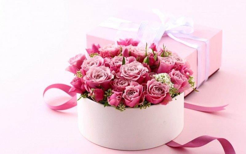 Красивые цветы на подарок