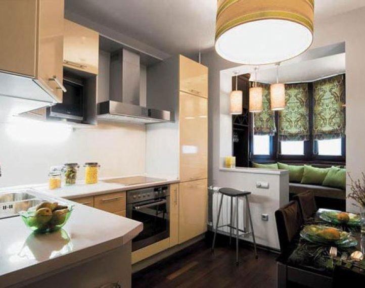 Интерьер кухни 16 кв м с балконом фото