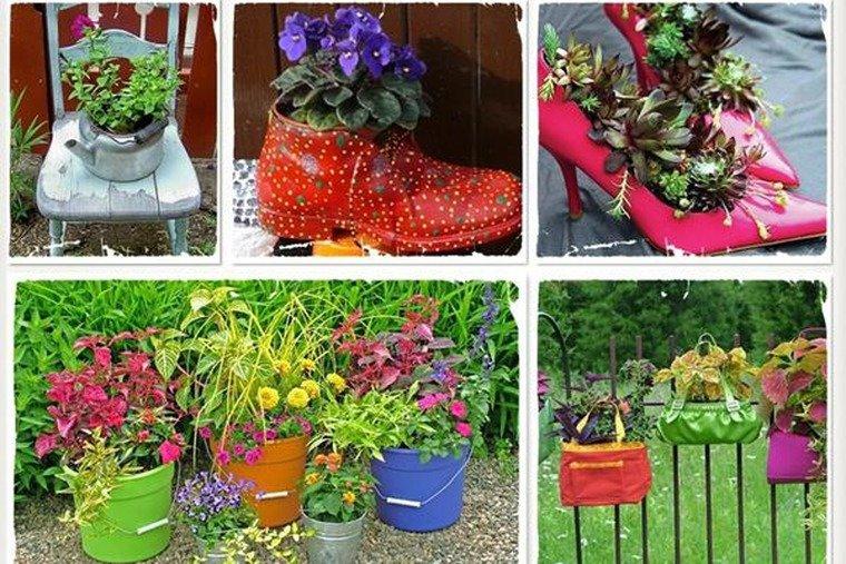 Идеи для сада из подручных материалов своими руками фото 90