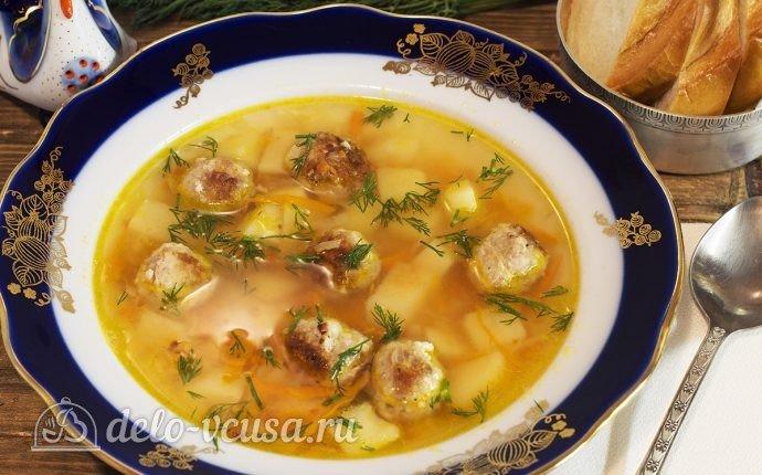 Суп фрикадельками и картошкой в мультиваркеы