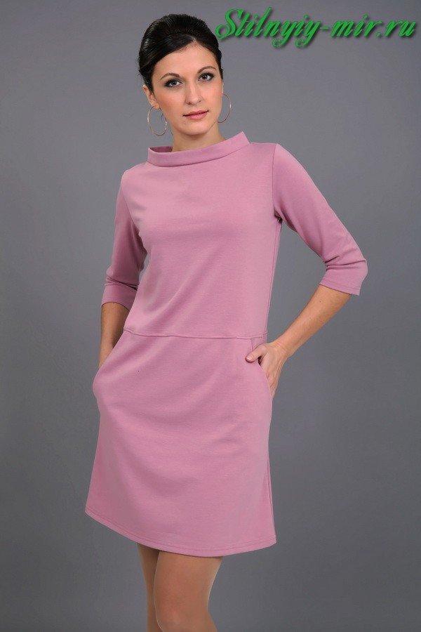 Фото моделей трикотажных платьев