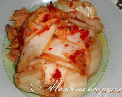 Капуста пилюска по-корейски рецепт