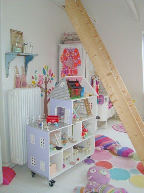 Дом для кукол своими руками из фанеры фото