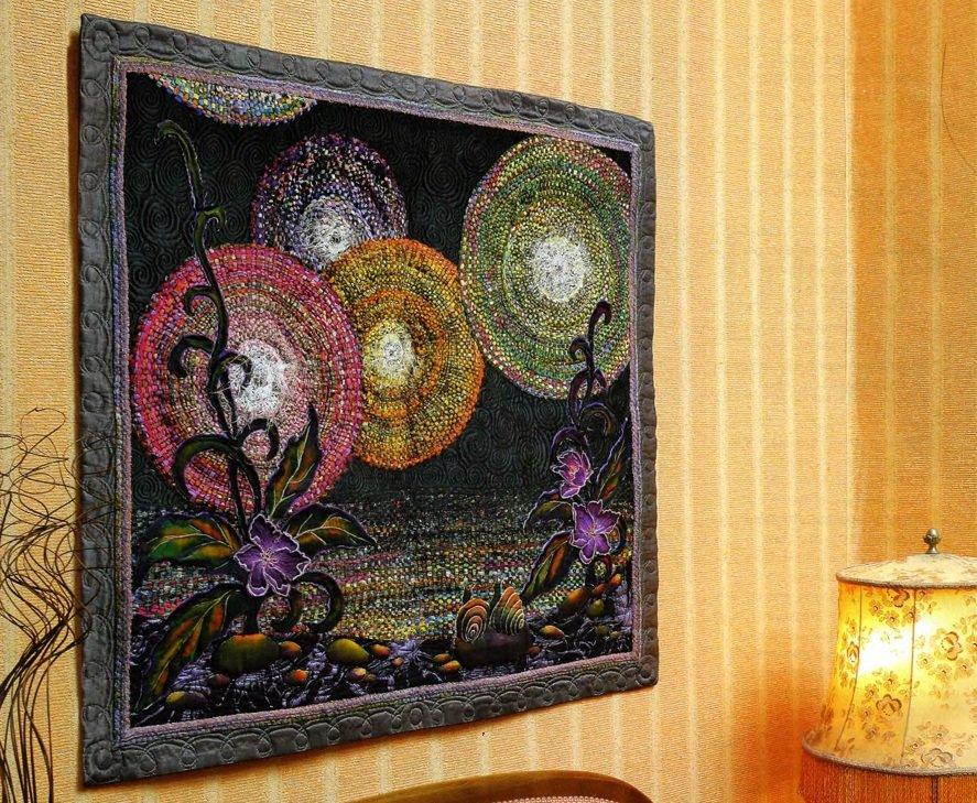 Картина из кусочков ткани своими руками 68