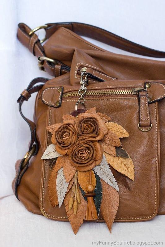 Украшение на сумку из кожи 192