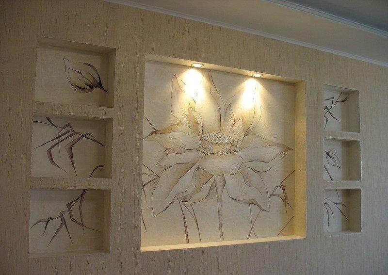 Декор своими руками из гипсокартона на стенах 905