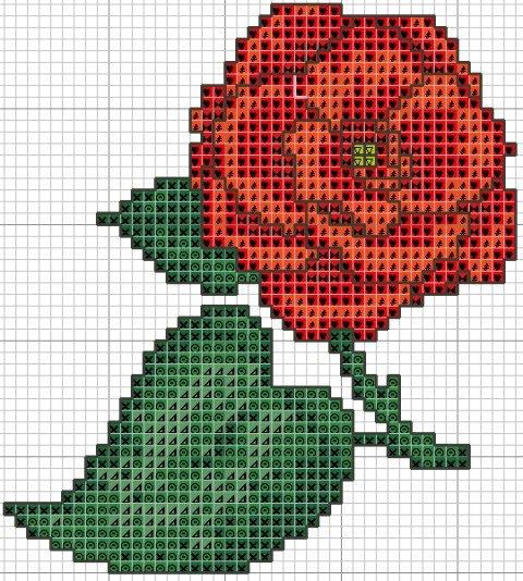Цветы вышивка схемы фото для начинающих