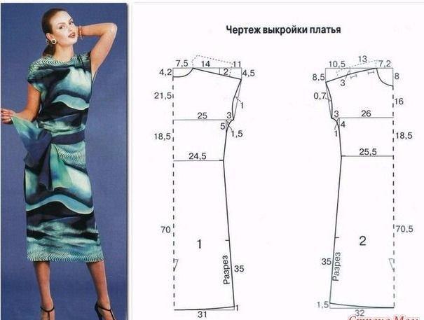 Летние выкройки платьев больших размеров для красивых женщин