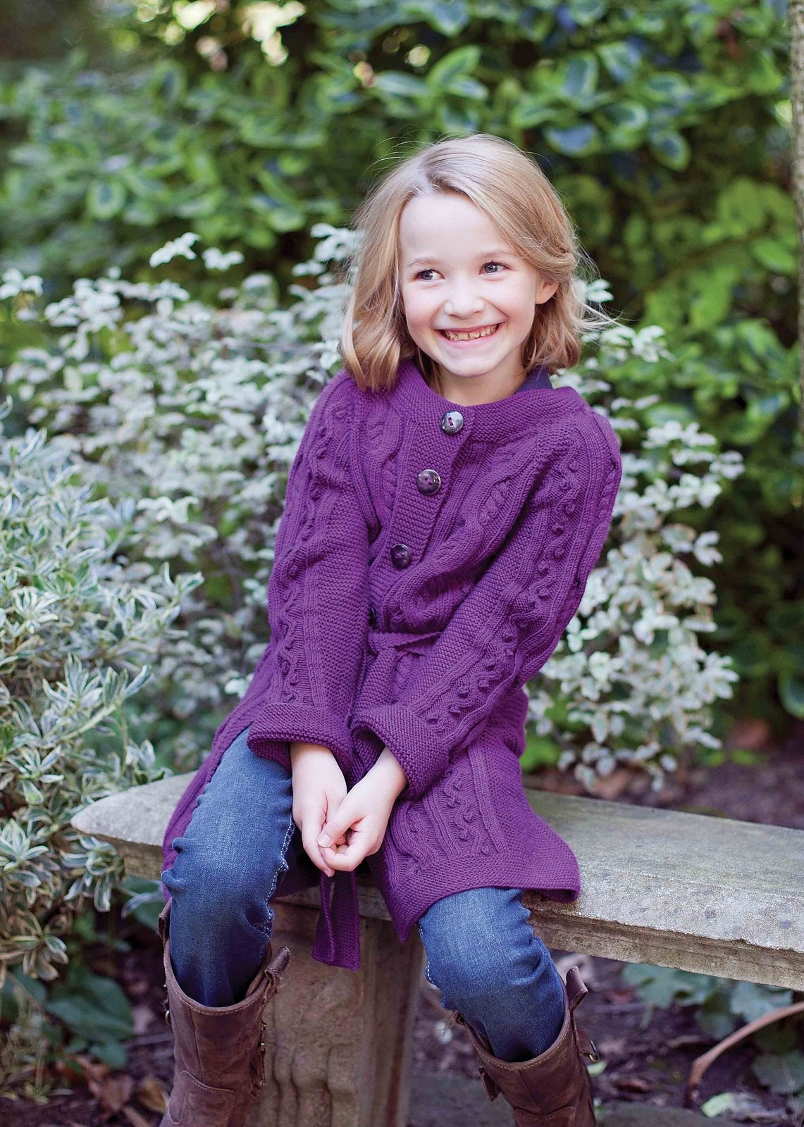 Кардиган для девочки 4 года вязание на спицах 231