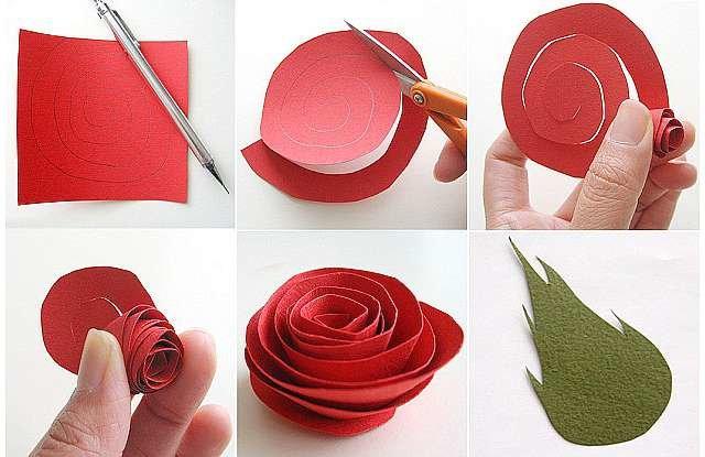 Цветы из бумаги своими руками розы из гофрированной бумаги