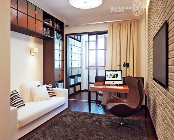 Идеи дизайна маленькой спальни-гостиной