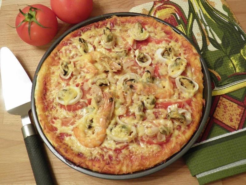 Фото пиццы с морепродуктами в домашних условиях