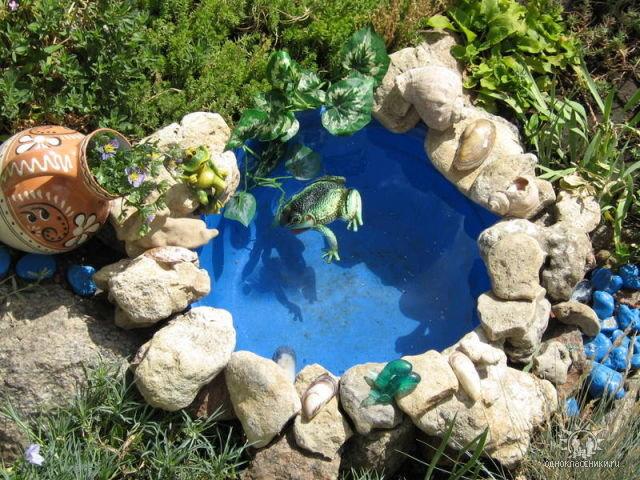 Озеро для сада своими руками