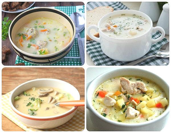 Мясной суп с плавленным сыром рецепт