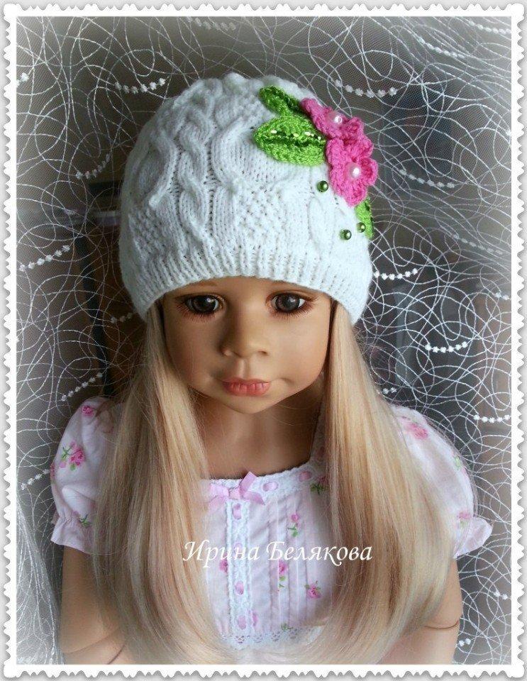 Вязание шапочки весна на девочек 908