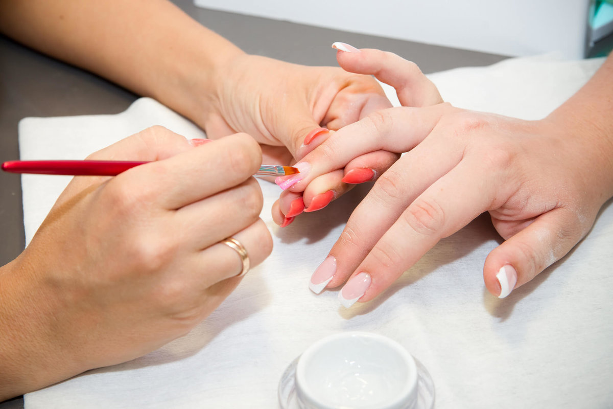 Наращивание ногтей фото процесса