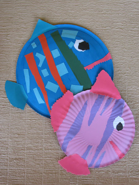 Рыбы своими руками из картона