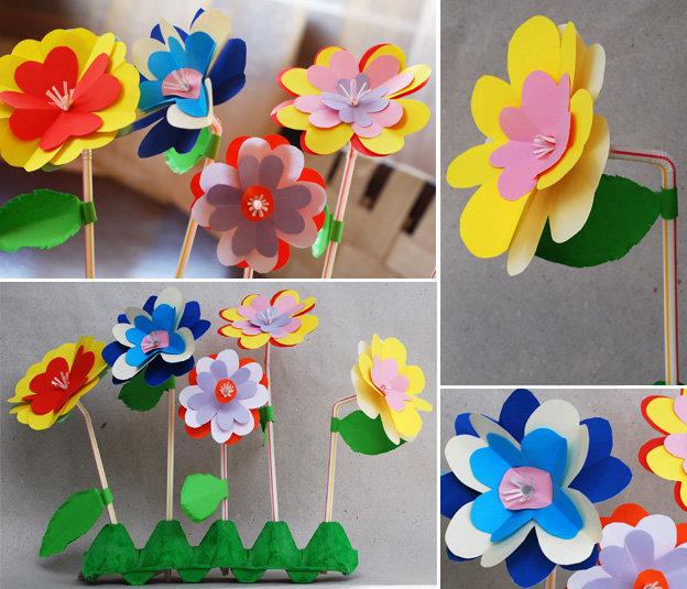 Цветы сделанная своими руками для детей