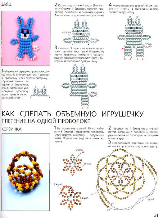 Игрушки из бисера со схемами своими руками