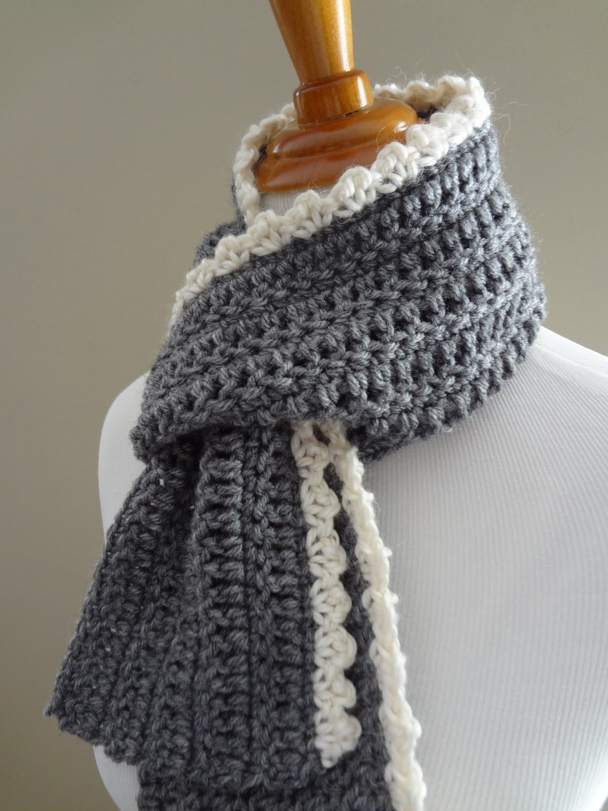 Вязание крючком шарф из толстой пряжи 57