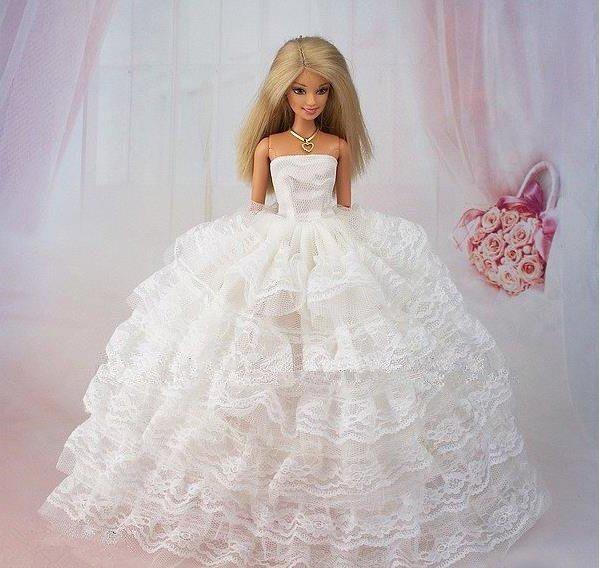 Как сшить для куклы барби с свадебных платьях 498
