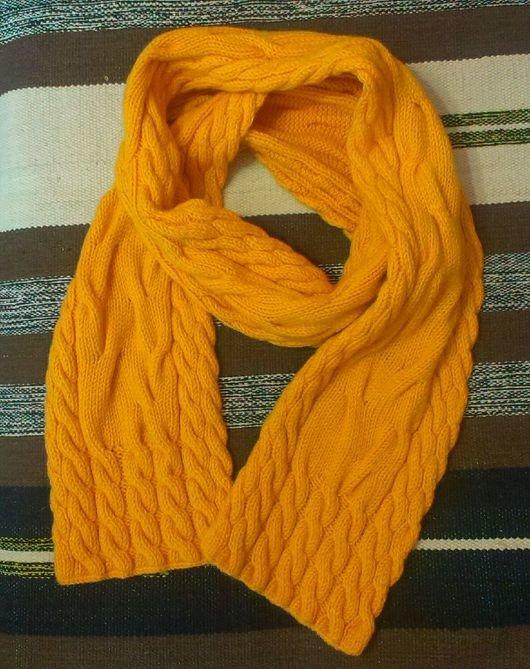 Вязание по косой спицами шарф 457