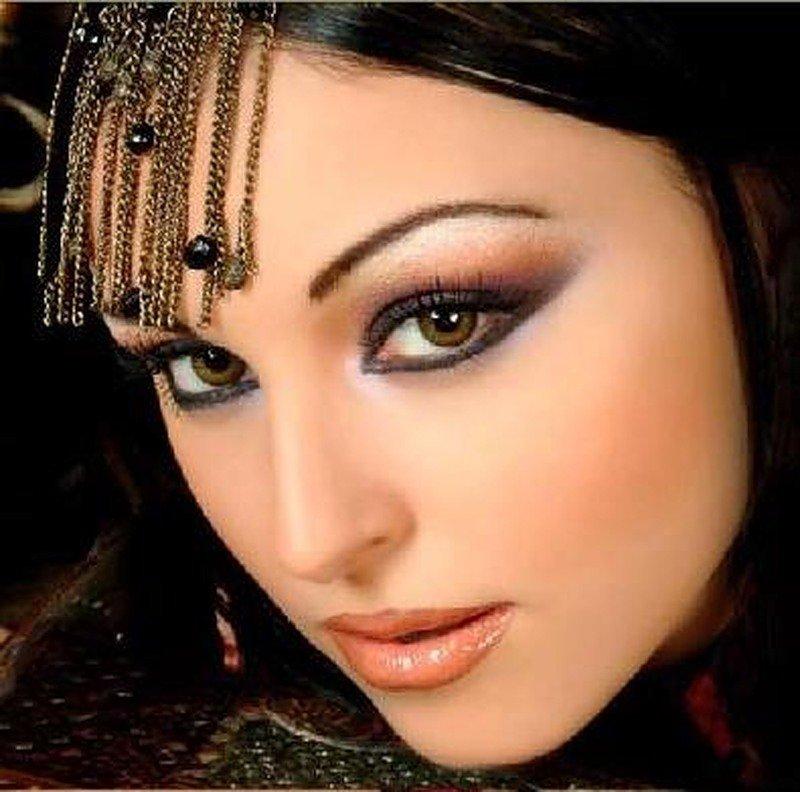 Арабский макияж глаз для карих глаз