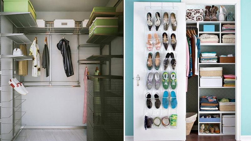 Дизайн очень маленькой гардеробной комнаты
