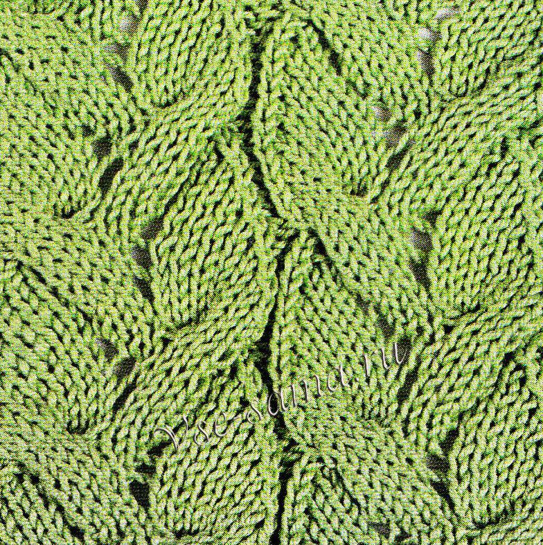 Объемный ажурный узор вязание спицами