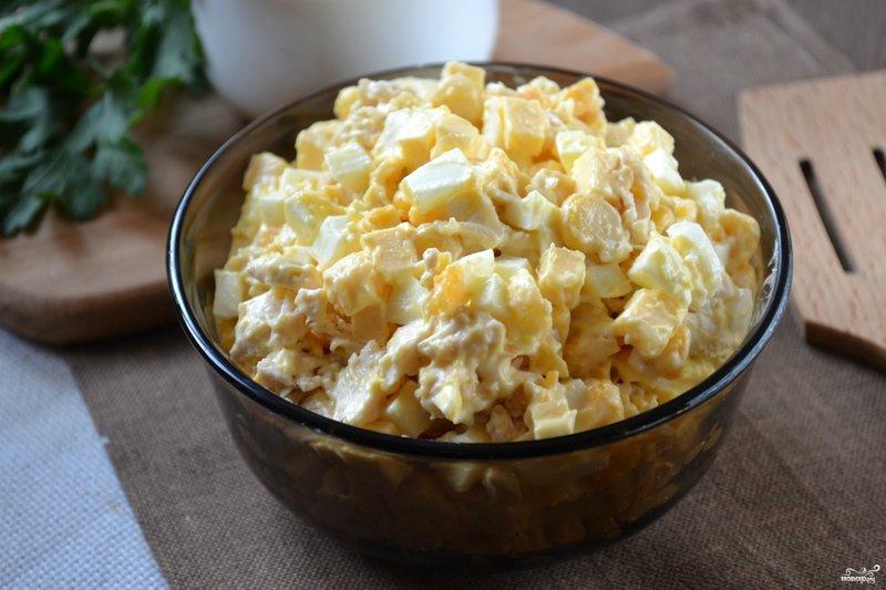 Салат из курины яиц сыра