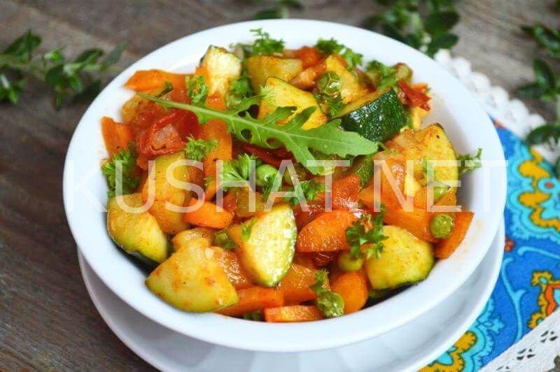 Овощное рагу с кабачками в мультиварке рецепты с пошагово