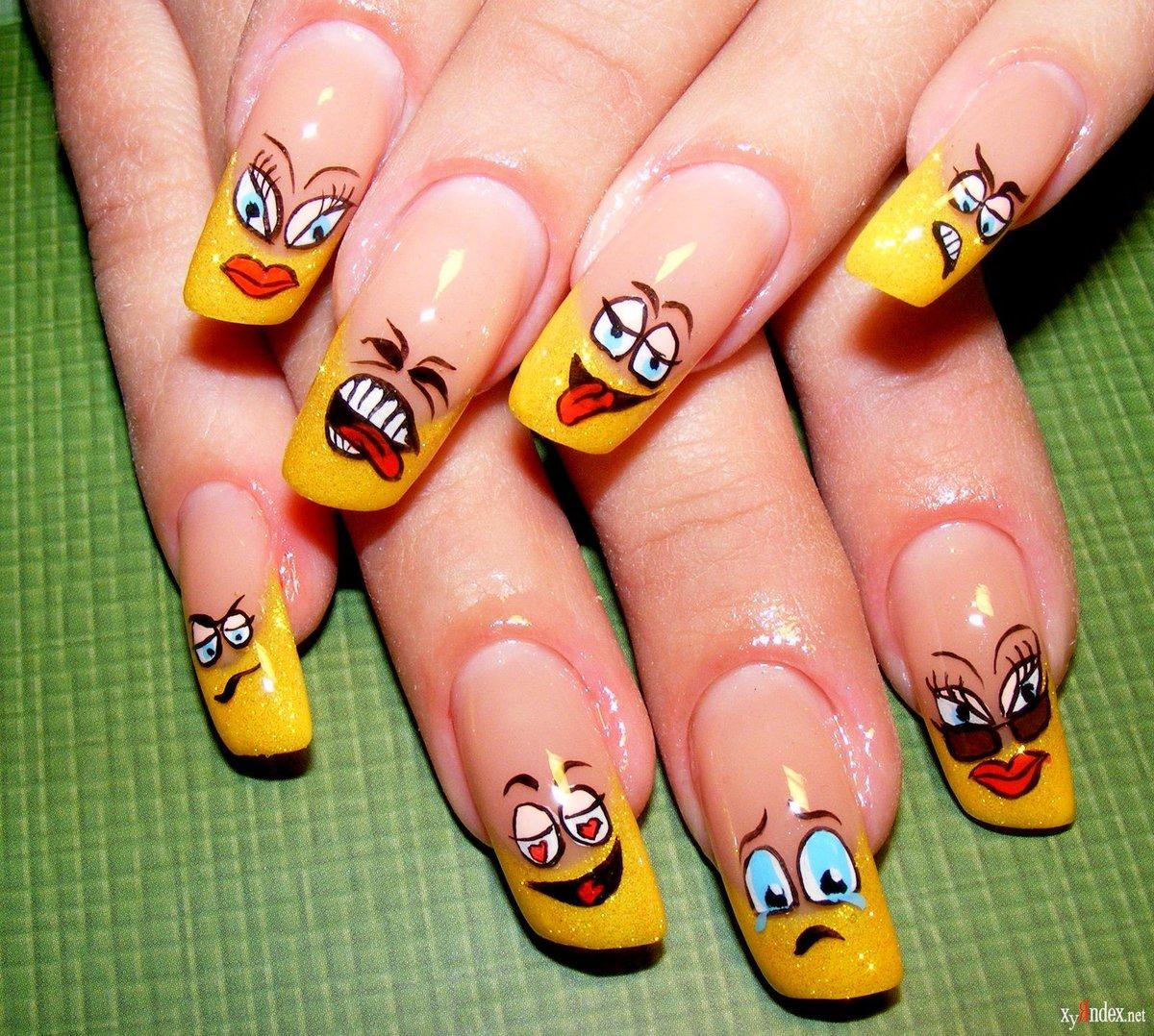 Летний дизайн ногтей, яркий летний маникюр с цветами 97