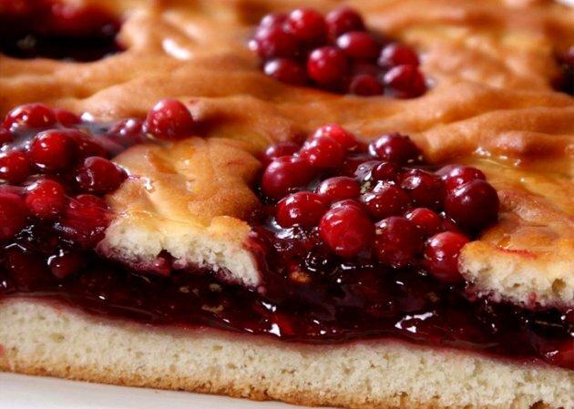 Рецепт пирог с брусникой вкусный рецепт