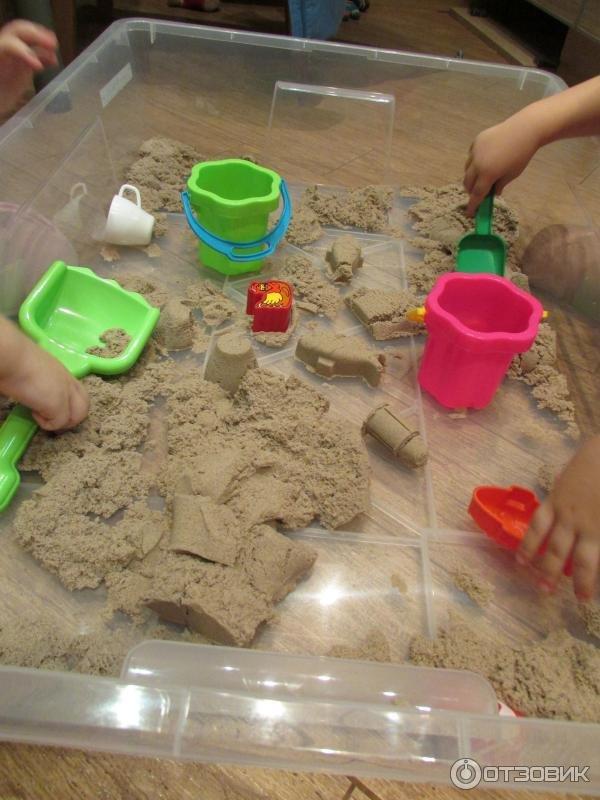 Кинетический песок своими руками для детей