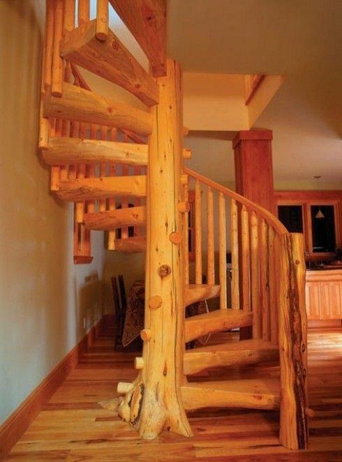 Деревянные резные винтовые лестницы своими руками 584